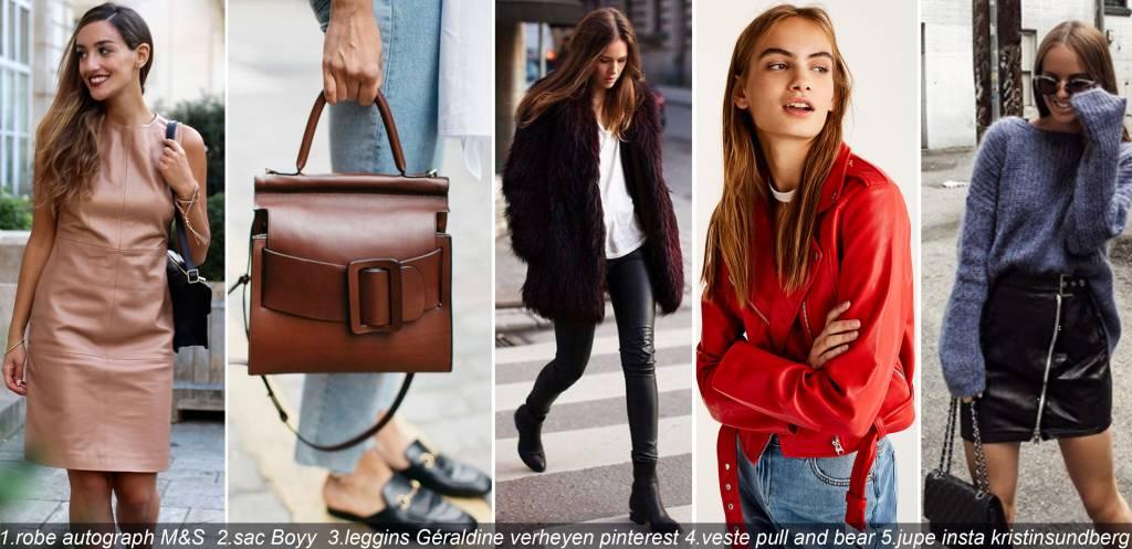 look-tendance-2017-cuir-sixties